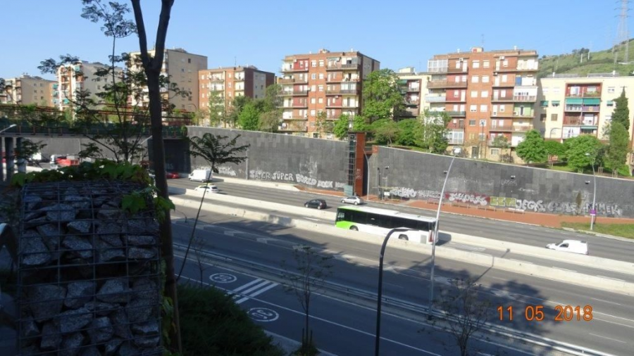 Recobriment del mur antireverberació