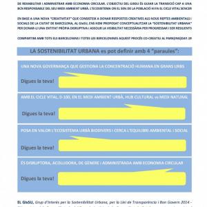GixSU, Grup d'Interès per la Sostenibilitat Urbana