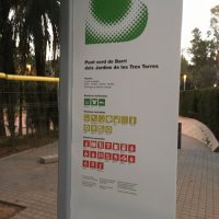 Punt verd de Barri Jardins de les Tres Torres
