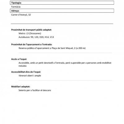 L'accessibilitat a la Farmàcia Casanellas