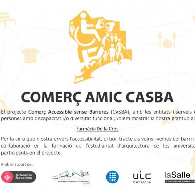 Farmàcia De la Creu i el Projecte CASBA