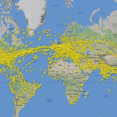 Tràfic d'avions al Món