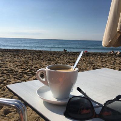 Esmorzant amb vistes a l'horitzó