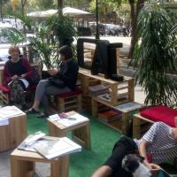 Park(ing)Day 2020 - Vers uns edificis menys contaminants i un espai públic més amable, contribuïm - Grup arquitectes COAC Eixample