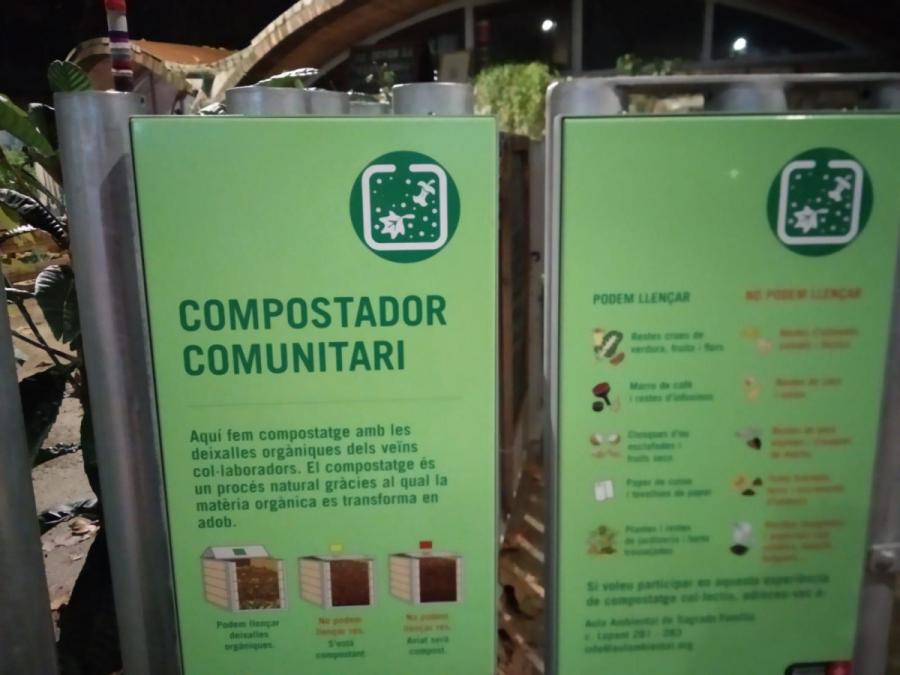 Cartell compostador Hort de la Lola